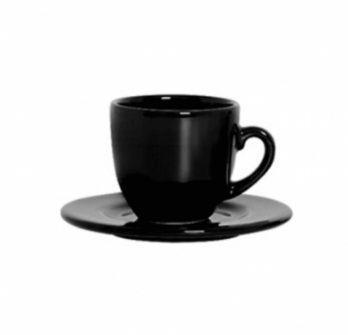Imagem de Xícara de Chá Com Pires 170 Ml Preta
