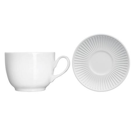Imagem de Xícara de chá em porcelana Germer Lines 190ml branca