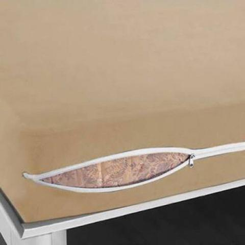 Imagem de 1 Capa De Proteção De Colchão Solteiro Em Poliéster Com Zíper , Nura