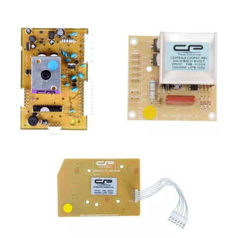 Imagem de 1 Placa e interface Compatível Maquina Electrolux Ltd11 e 1 Placa BWL09A Compatível Máquina Brastemp