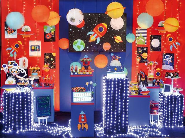 Imagem de 10 Cestas Mini Cachepot Decorativo Compose Astronauta Festa