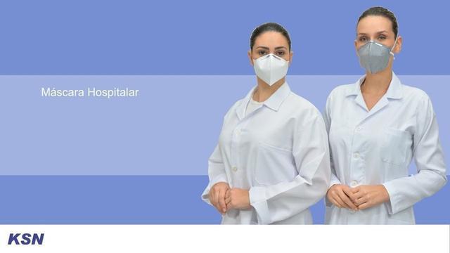 Imagem de 10 Máscara Hospitalar Pff2 - Registro Anvisa Selo Inmetro