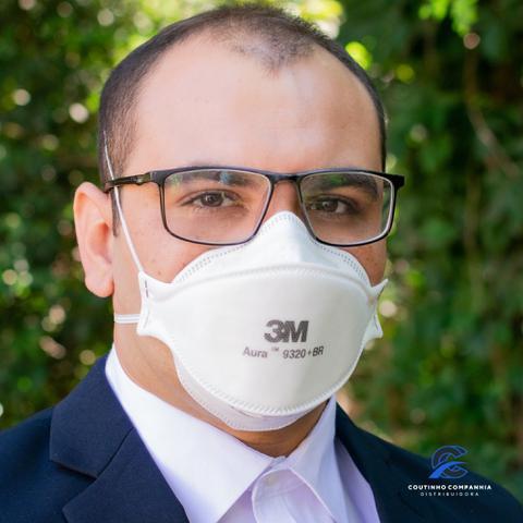 Imagem de 10 Máscaras n95(pff2) Aura 3M 9320 +br com espuma no Clipe Nasal - selo inmetro CA: 30592
