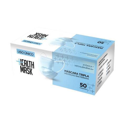 Imagem de 100 Máscaras Descartáveis TRIPLA PROTEÇÃO COM FILTRO MED HEALTH MASK - ENVIO IMEDIATO