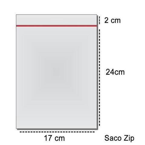Imagem de 100 Sacos Saquinho Zip Lock 17x24 Envio De Nota Fiscal