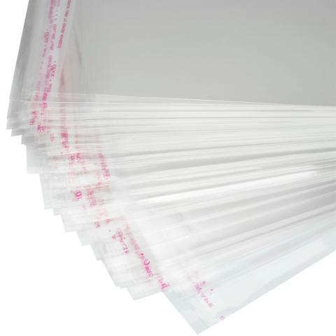 Imagem de 100 Saquinhos 12 x 18 cm Autocolante Transparente