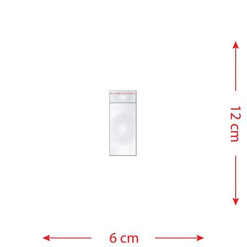 Imagem de 100 Saquinhos 6 x 12 cm Autocolante Transparente