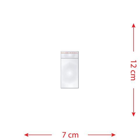 Imagem de 100 Saquinhos 7 x 12 cm Autocolante Transparente