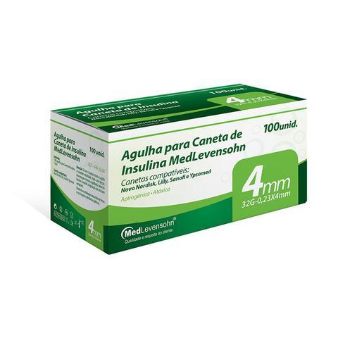 Imagem de 100 unidades - Caixa com Agulha para Caneta de Insulina - Medlevensohn