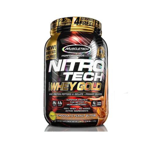 Imagem de 100% Whey Gold Nitro Tech 999g - Muscletech