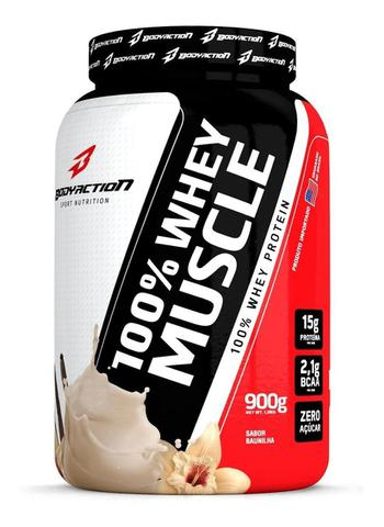 Imagem de 100% Whey muscle 900g Bodyaction