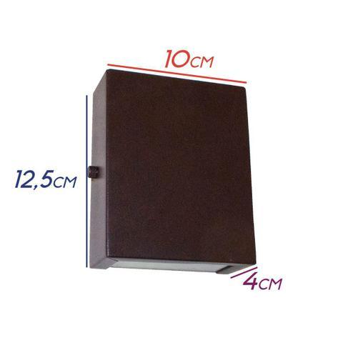 Imagem de 10x Arandela Slim 2 Focos Marrom Parede Muro Interna Externa St1597