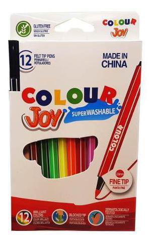 Imagem de 12 Canetinha Hidrografica Cores Caneta Colour Joy Colorir
