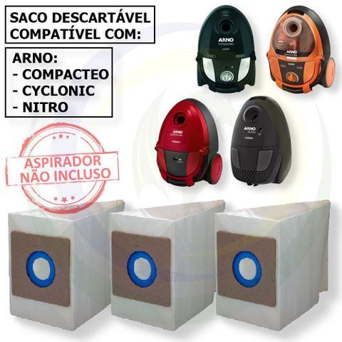 Imagem de 12 Saco Descartável para Aspirador De Pó Arno Modelos: Compacteo / Cyclonic / Nitro
