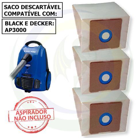 Imagem de 12 Saco Descartável para Aspirador De Pó Black E Decker AP3000
