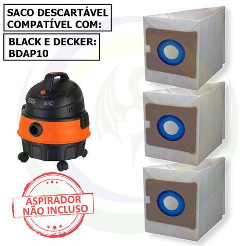 Imagem de 12 Saco Descartável para Aspirador de Pó Black e Decker BDAP10