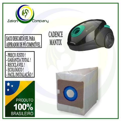 Imagem de 12 Saco Descartável para Aspirador de Pó Cadence Mantix