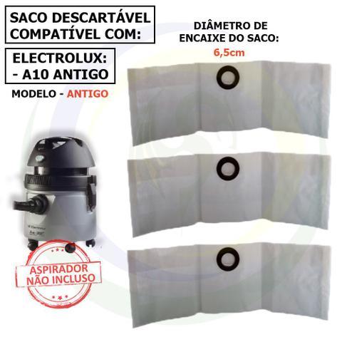 Imagem de 12 Saco Descartável para Aspirador de Pó Electrolux A10 Antigo a10sc