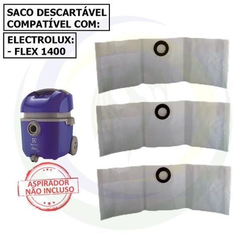 Imagem de 12 Saco Descartável para Aspirador de Pó Electrolux Flex 1400 flsac