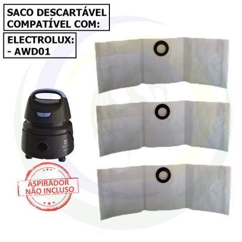 Imagem de 12 Saco Descartável para Aspirador de Pó Electrolux Hidrolux Awd01