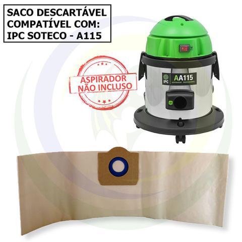 Imagem de 12 Saco Descartável para Aspirador de Pó IPC Soteco A115