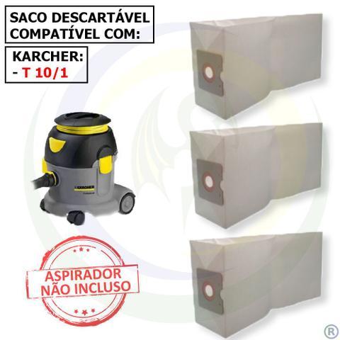 Imagem de 12 Saco Descartável para Aspirador de Pó Karcher T10/1