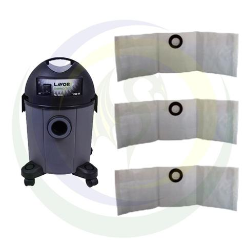 Imagem de 12 Saco Descartável para Aspirador de Pó Lavor Compact Eco 22 Litros