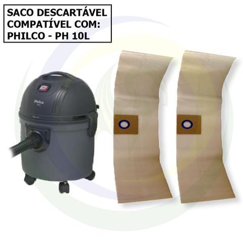 Imagem de 12 Saco Descartável Para Aspirador De Pó Philco PH 10L