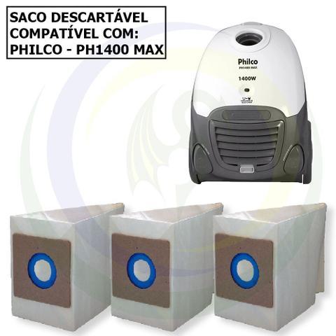 Imagem de 12 Saco Descartável para Aspirador de Pó Philco PH 1400 Max