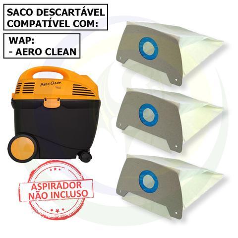 Imagem de 12 Saco Descartável para Aspirador de Pó Wap Aero Clean