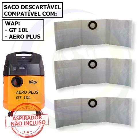 Imagem de 12 Saco Descartável para Aspirador de Pó Wap Aero Plus / Gt 10l