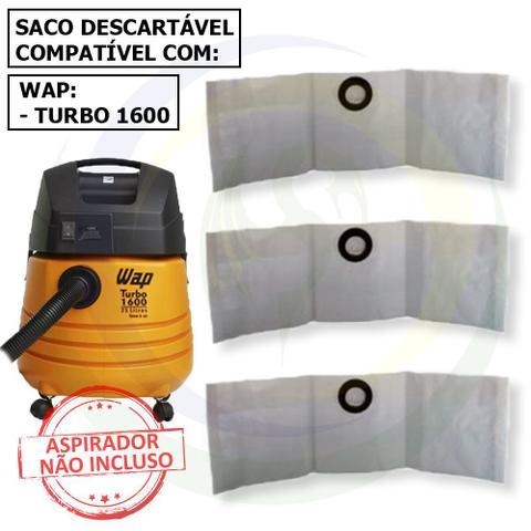 Imagem de 12 Saco Descartável para Aspirador de Pó Wap Turbo 1600
