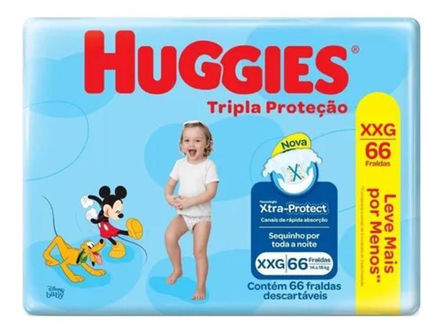 Imagem de 198 Fraldas Huggies Tripla Proteção Tamanho Xxg