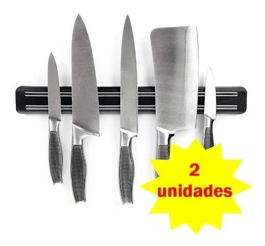 Imagem de 2 Barra Magnetica De Cozinha Com Ima para Facas De Parede 33cm