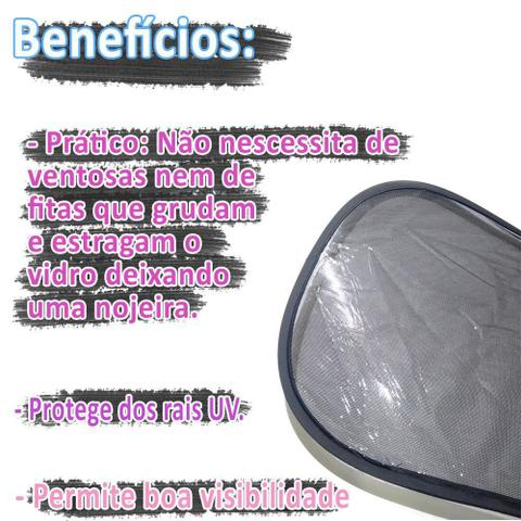 Imagem de 2 Cortina Protetor Solar Janela Bebê Conforto Carro Duplo