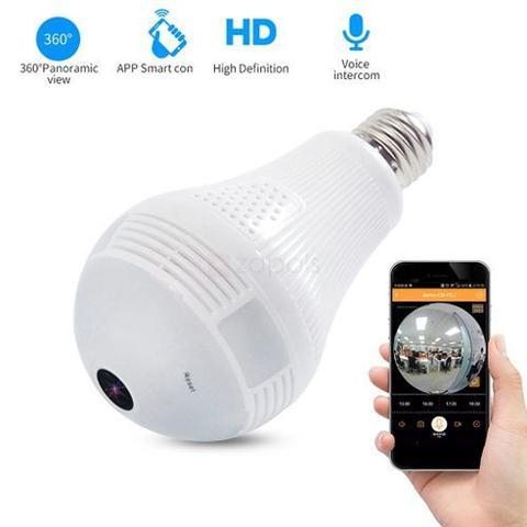 Imagem de 2 Em 1 Câmera Filma Hd E Lampada Led Wifi Internet Segurança