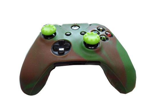 Imagem de 2 Kits Capas E Grips Controle Xbox One Militar