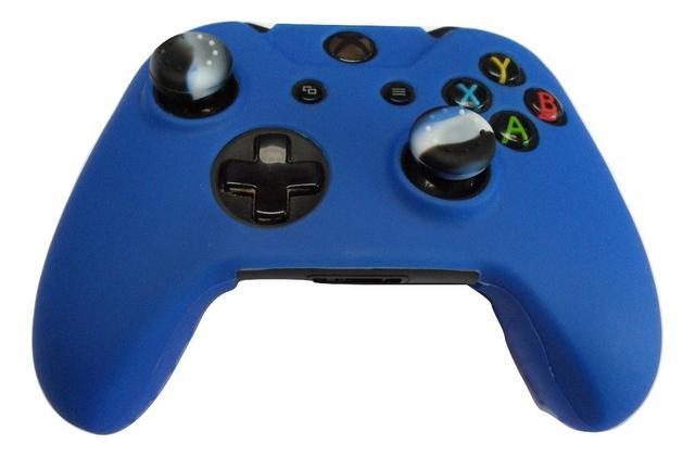 Imagem de 2 Kits Capas E Grips Para Controle Xbox One Azul