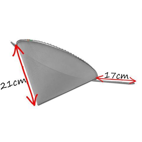 Imagem de 2un Coador E Funil C/ Cabo P/ Óleo Inox 21x30cm Cônico Cone