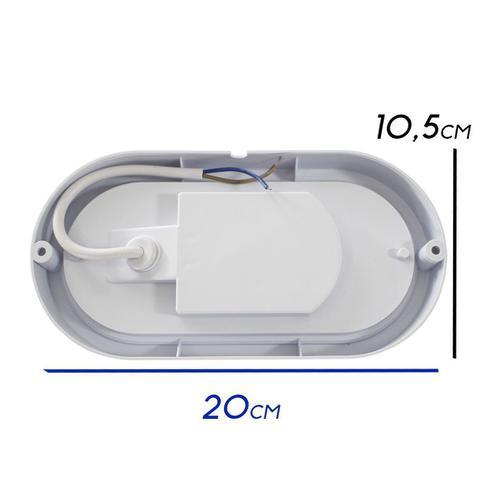 Imagem de 2X arandela tartaruga LED 12W luminária externa 6000k Branco Frio bivolt - Arandela Branca ST607