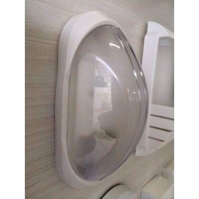Imagem de 3 Arandela Externa Tartaruga Plástico de Qualidade Branca AC189
