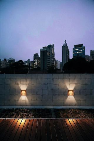 Imagem de 3 Arandelas Luminária Loy Marrom Para Parede Interna E Exter