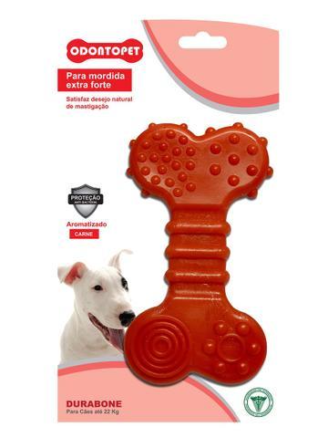 Imagem de 3 Brinquedos Durabone Tronco, Big Coxa, Osso Flat Cães 22 Kg Mordida Forte Odontopet