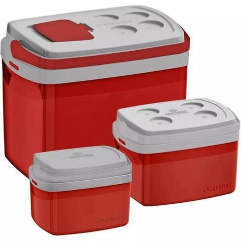 Imagem de 3 Caixa Térmica Cooler Combo De 32 12 5 Litros - Soprano