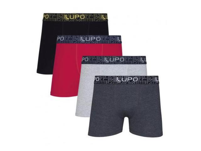 Imagem de 3 Cuecas Boxer Lupo Algodão Masculino Box Cotton Promoção
