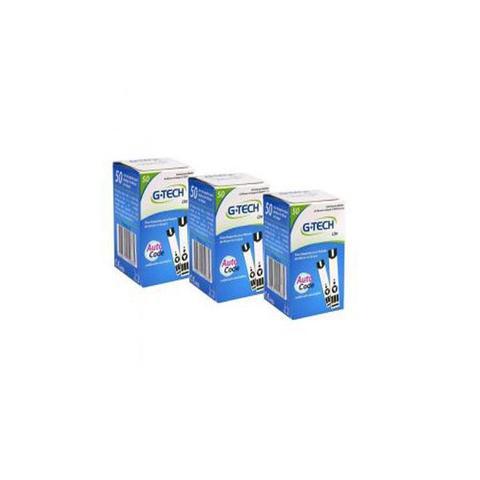 Imagem de 3 Kits 50 Tiras Reagentes G-tech Lite Teste De Glicemia