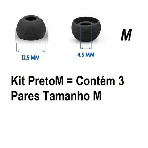Imagem de 3 Pares De Silicone Intra-auricular para Fone De Ouvido Silicone Substituição Fone de Ouvido