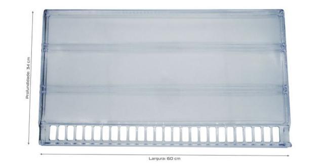 Imagem de 3 Prateleiras Acrílica Refrigerador Geladeira Acrílica Bosch Ksu40 Ksu44