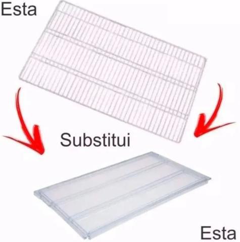 Imagem de 3 Prateleiras Aramada Geladeira Refrigerador Electrolux