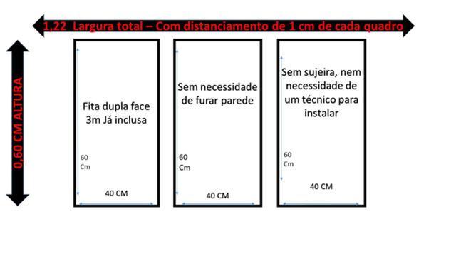 Imagem de 3 Quadros Decorativos Folhagem Love Quarto De Casal